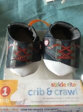 Stride Rite Sports Baby Boy Crib Shoes 0-3!Months Step 1 New In Package