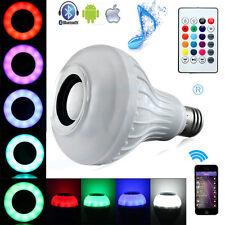 12W E27 LED RGB Wireless Bluetooth Speaker Light Bulb Music Playing Lamp &Remote