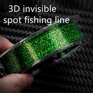 100m Invisible Fishing Line Speckles Carp Fluorocarbon Line Super Strong Spotted