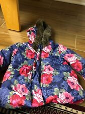 Monsoon Baby Girls Floral Coat Size 12-18M In Great Condition!
