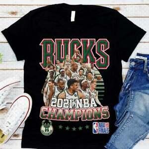 Vintage Milwaukee Bucks NBA Finals Basketball Champ 2021 T Shirt Birthday Gift