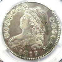 1817/3 Capped Bust Half Dollar 50C O-101a - PCGS VF Detail - Rare Overdate Coin!