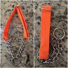 Martingale Dog Collar Nylon chain 4 colors two sizes