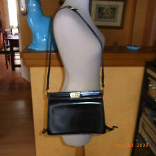 VINTAGE 60 SAC A BANDOULIERE CUIR MARRON / BROWN LEATHER CROSSBODY BAG  VINTAGE