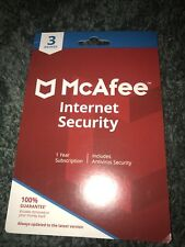 MCAFEE INTERNET SECURITY for 3 DEVICES (PC, MAC, SMARTPHONE, TABLET) 1 Year
