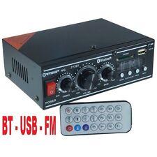 AMPLIFICATORE STEREO 240W 2 CANALI RADIO BLUETOOTH + RADIO USB E TELECOMANDO