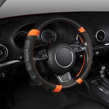 "15"" (38cm) Breathable Microfiber Leather Car SUV Steering Wheel Cover Non Slip"