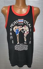 New listing Vintage 70s 80s Muay Thai Tank Top Shirt Boxing Thailand Sport Rare Large Mma