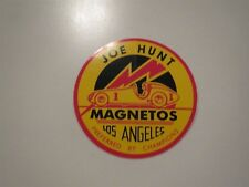 JOE HUNT MAGNETOS LOS ANGELES CALIFORNIA VINTAGE LOGO 3 INCH ROUND DECAL NEW