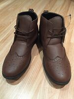 BUY 1GET 1 FREE Men Ankle Boot Casual Dress Chelsea Lace Dealer Shoe Brogue Size