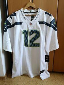 Neu Seattle Seahawks Trikot Gr. L Fan 12 Jersey Weiß