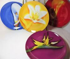 4 Decorator Plates Les Fleursde Parfums Givenchy Calla Lily Bird of Paradise +2