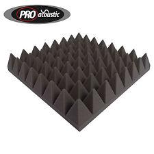 20x AFP75 Pro Acoustic Foam Pyramid Tiles Professional StudioTreatment