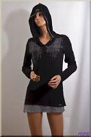 pull tunique noir gris  COP COPINE  taille M  ref  0917110