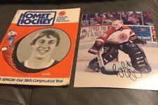 Vtg 1979 -80 Fort Wayne Komets IHL Hockey Program Irons & Autographed Photo Lot