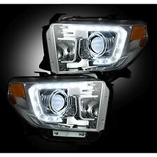 RECON 264294CLC 14-17 Toyota Tundra White-Clear Headlights Projector