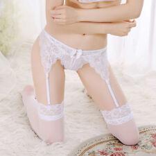 Sexy Women's Lace High Waist Stockings Garter Belt Suspender Underwear G-string