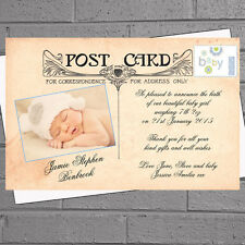 Vintage Postcard Boys Birth New Baby Announcement Thank You Cards x 12 H0204