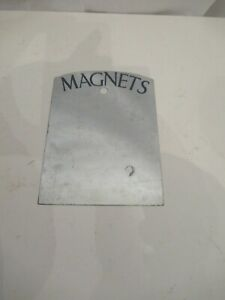 Little silver metal magnets plaque, notice board to use with magnets