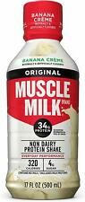Muscle Milk | Original Protein Shake, Ready to Drink, 17oz | Banana Crème, 12 ct