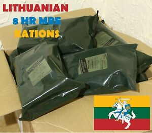 Lithuanian MRE  Meal Ready EAT Pack Emergency CAMPING FOOD US RCIR 04.2021 +