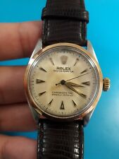 Vintage Rolex 6284 Oyster Perpetual 18k/SS 34mm Automatic Men's Watch Serviced