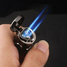 Windproof Refillable Butane Gas Trip Torch Jet Flame Cigarette Lighter Engaging