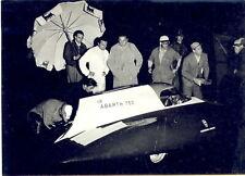 1956 MONZA AUTOMOBILISMO FIAT 600 derivazione ABARTH 750 - Rifornimento notturno