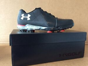 Under Armour Spieth 2 Golf Shoes Spikes Gore-Tex size 8 black/gray/red size