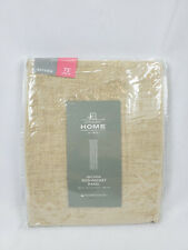 "JCP Home Linen Beige Sheer Bayview Rod-Pocket Curtain Panel, 50""x72"""