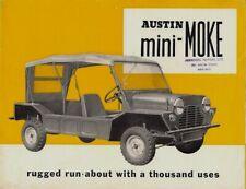 Austin Mini Moke 1965-66 UK Market Sales Brochure