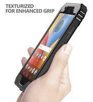 For Motorola Moto E4 Plus Case [360° Protective] Premium Shockproof Cover Black