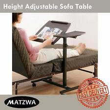 Mobile Height Angle Adjustable Laptop Sofa Bedside Table Stand Dual Surfaces