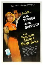 POSTMAN ALWAYS RINGS TWICE, THE (1946) Vntg orig one sheet OUTSTANDING on linen