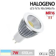 Halogeno LED MR16  GU5.3 BLANCO FRIO O CALIDO aluminio 3W 5W 7W