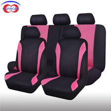 11 PCS Universal Seat Covers Polyester Sponge Mesh Pink for Car Truck Van SUV