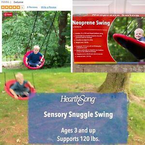 HearthSong Sensory Snuggle Oval Swing 3'x2' Neoprene 3+ Up To 120lbs NIB 733355
