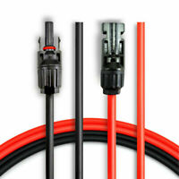 5/10/20/30Ft Solar Panel Extension Cable Wire Connector For MC4 10AWG Black+Red