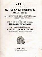 1839 - VITA DI SAN GIUSEPPE DELLA CROCE. - Regno di Napoli
