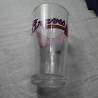 Atlanta Braves Pint Glass Budweiser Official Beer Major League Baseball