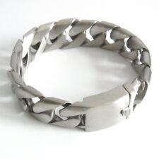 Curb Chain Bracelet Matt Stainless Steel Wrist Watch Unisex Brushed Bracelet