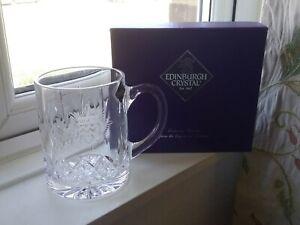 Edinburgh Crystal Beer Tankard New and Boxed