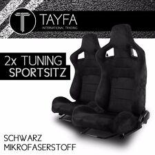 2x Autosportsitz Sportsitz Racingseat schwarz Alcantara Schalensitz