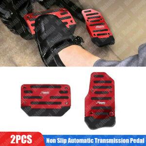 Universal Red Non-Slip Automatic Pedal Brake Foot Treadle Cover Car Accessories