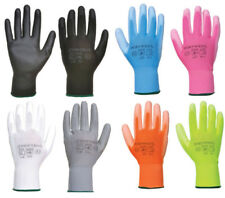 Nylon PU Palm Coated Work Wear Gardening Colourful Safety Gloves Portwest A120