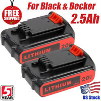 2PACK LBXR20 Lithium MAX 20Volt FOR Black & Decker Battery LDX200 LBXR2020 Tools