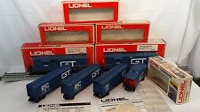 Lionel 6-8353 Grand Trunk Power Dummy 3 Boxcars Caboose Lot of 6 wOB C-4