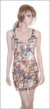 Red Hearing Sleeveless Floral Flounce Dress size UK 8/10/12  EUR 36/38/40