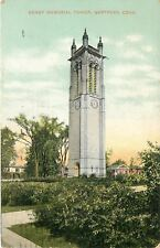 Hartford Connecticut~Keney Memorial Clock Tower~Homes~1908 Postcard