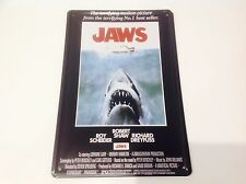 JAWS*SHARK* Spielberg  Man cave art movie star Hollywood Sign Tin Plaque PICTURE